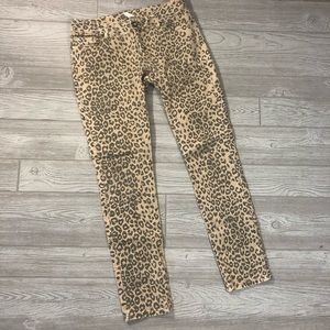 Cache • Leopard Print Skinny Jeans
